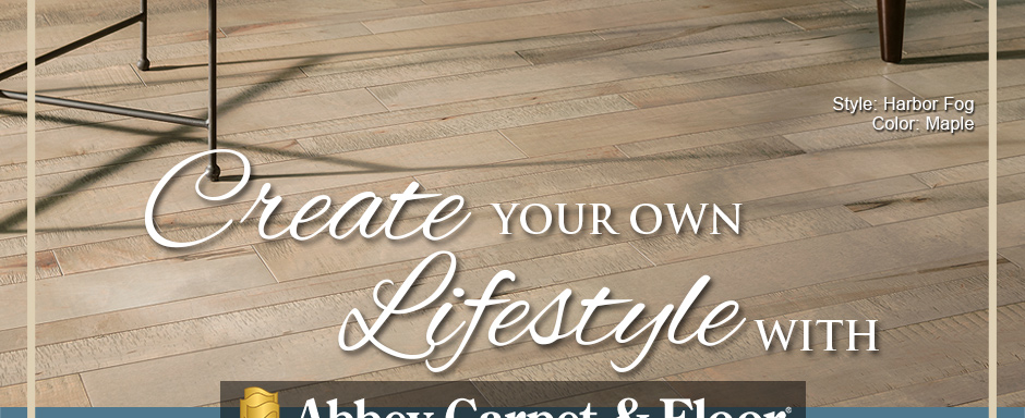 Create Your Own Lifestyle with Abbey Carpet & Floor. Armstrong Flooring Style: Harbor Fog | Color: Maple